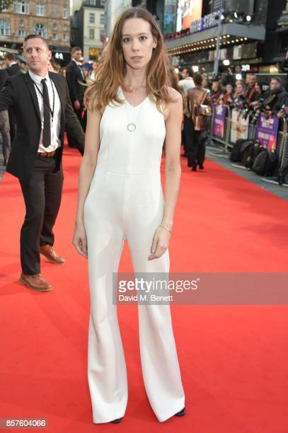 Chloe Pirrie attends the European Premiere of 'Breathe' during the opening night gala of the 61st BFI London Film Festival at Odeon Leicester Square...