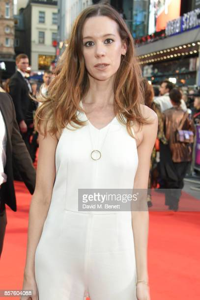 Chloe Pirrie attends the European Premiere of Breathe during the opening night gala of the 61st BFI London Film Festival at Odeon Leicester Square on...