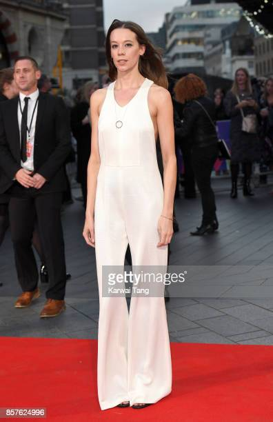 Chloe Pirrie attends the European Premiere of 'Breathe' on the opening night Gala of the 61st BFI London Film Festival at the Odeon Leicester Square...