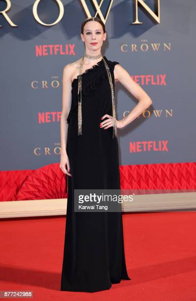 Chloe Pirrie attends the World Premiere of Netflix's 'The Crown' Season 2 at Odeon Leicester Square on November 21 2017 in London England