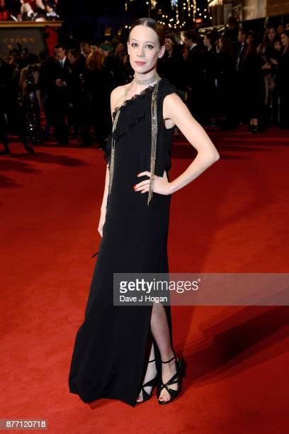 Chloe Pirrie attends the World Premiere of season 2 of Netflix 'The Crown' at Odeon Leicester Square on November 21 2017 in London England
