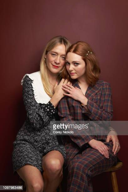 Chloe Sevigny and AnnaSophia Robb of Hulu's The Act pose for a portrait during the 2019 Winter TCA at The Langham Huntington Pasadena on February 11...