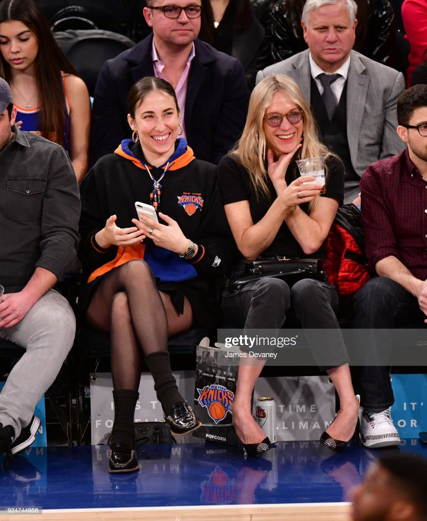 Celebrities Attend The New York Knicks Vs Chicago Bulls Game