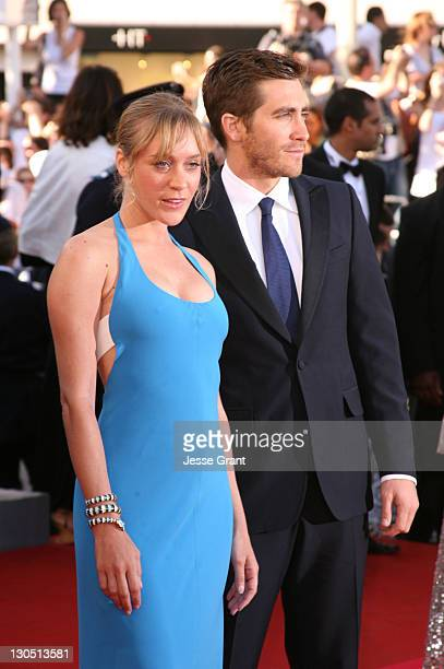 Chloe Sevigny and Jake Gyllenhaal during 2007 Cannes Film Festival 'Zodiac' Premiere at Palais de Festival in Cannes France