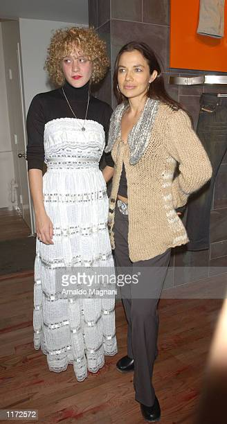 Chloe Sevigny and Justine Bateman attends the Diesel Denim Gallery exhibition of Diesel's newest denim products October 22 2001 in New York City