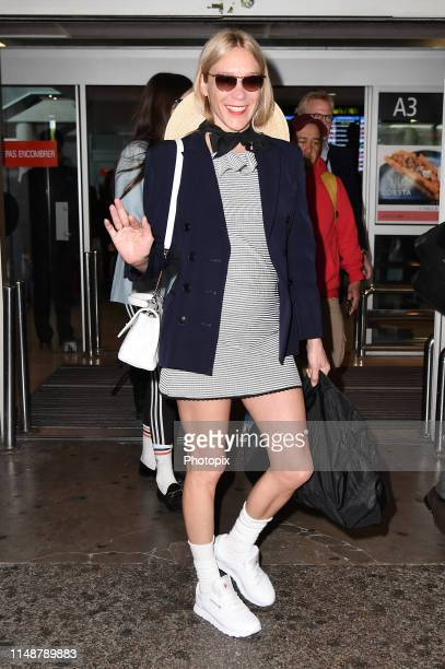 Chloe Sevigny arrives ahead of the 72nd annual Cannes Film Festival at Nice Airport on May 13 2019 in Nice France