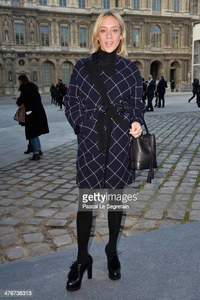 Chloe Sevigny arrives at the Louis Vuitton show as part of the Paris Fashion Week Womenswear Fall/Winter 20142015 on March 5 2014 in Paris France