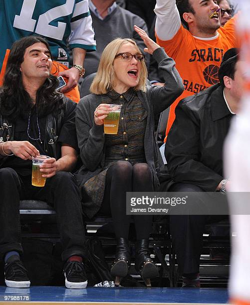 Chloe Sevigny attends a game between the Denver Nuggets and the New York Knicks at Madison Square Garden on March 23 2010 in New York City