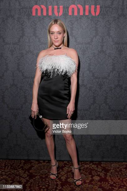 Chloe Sevigny attends the Miu Miu dinner and aftershow party at Raspoutine Club as part of the Paris Fashion Week Womenswear Fall/Winter 2019/2020 on...