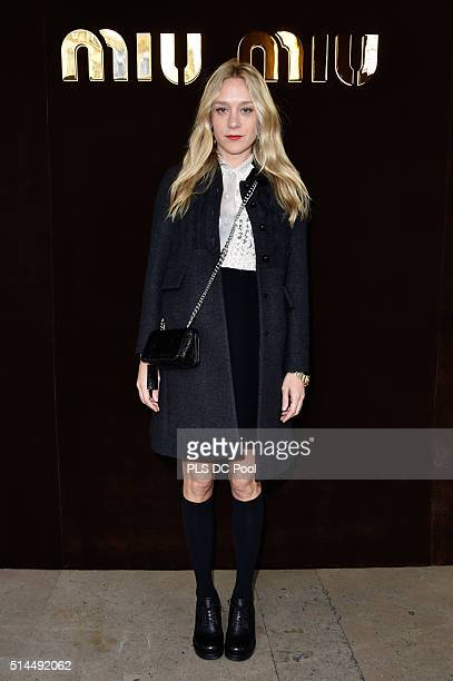 Chloe Sevigny attends the Miu Miu show as part of the Paris Fashion Week Womenswear Fall / Winter 2016 on March 9 2016 in Paris France