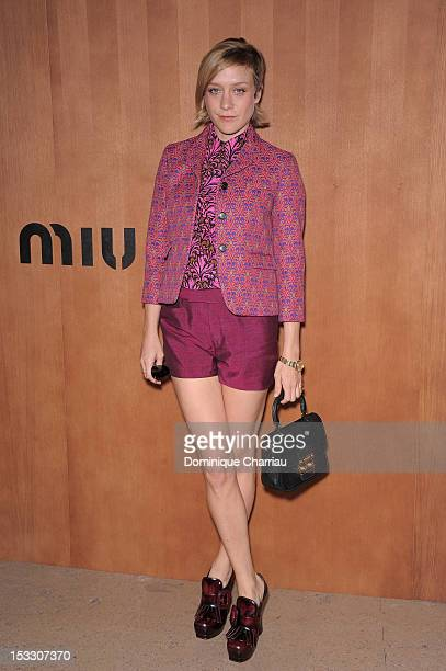 Chloe Sevigny attends the Miu Miu Spring/Summer 2013 show as part of Paris Fashion Week on October 3 2012 in Paris France