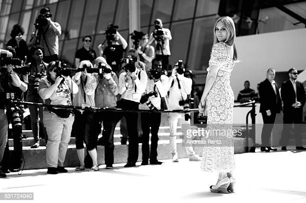 Chloe Sevigny attends the 'Paterson' premiere during the 69th annual Cannes Film Festival at the Palais des Festivals on May 16 2016 in Cannes France