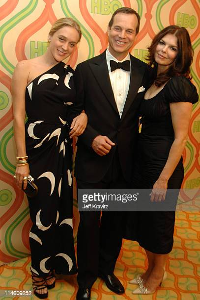 Chloe Sevigny Bill Paxton and Jeanne Tripplehorn during HBO 2007 Golden Globe After Party Red Carpet at Beverly Hilton in Los Angeles California...