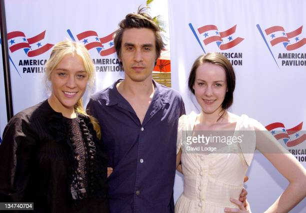 Chloe Sevigny director M Blash and Jena Malone during 2006 Cannes Film Festival 'Lying' Photocall at American Pavilion in Cannes France