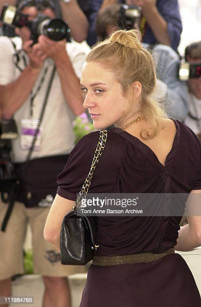"""Chloe Sevigny during Cannes 2002 - """"Demonlover"""" Photo Call at Palais des Festivals in Cannes, France."""