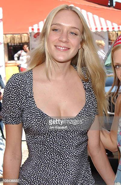 Chloe Sevigny during Virgin Mobile House of Paygoism Summer BBQ Tour at Sunset Blvd. In West Hollywood, California, United States.