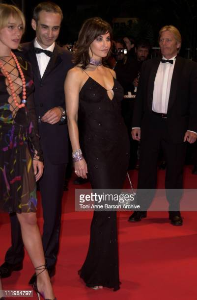 Chloe Sevigny Gina Gershon during Cannes 2002 'Demonlover' Premiere at Palais des Festivals in Cannes France