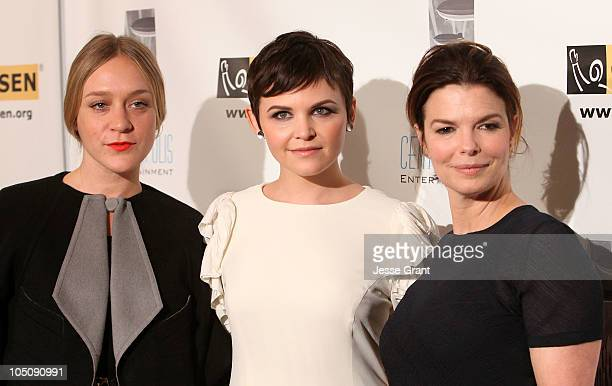 Chloe Sevigny Ginnifer Goodwin and Jeanne Tripplehorn arrive at The 6th Annual GLSEN Respect Awards held at the Beverly Hills Hotel on October 8 2010...
