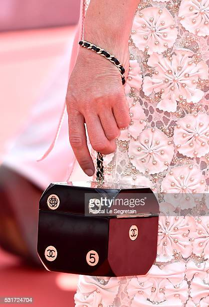 Chloe Sevigny handbag detail attends the Paterson premiere during the 69th annual Cannes Film Festival at the Palais des Festivals on May 16 2016 in...