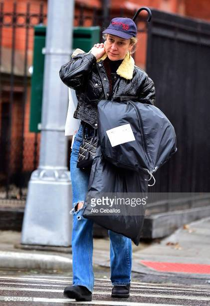 Chloe Sevigny is seen in the East Village on January 12 2018 in New York City