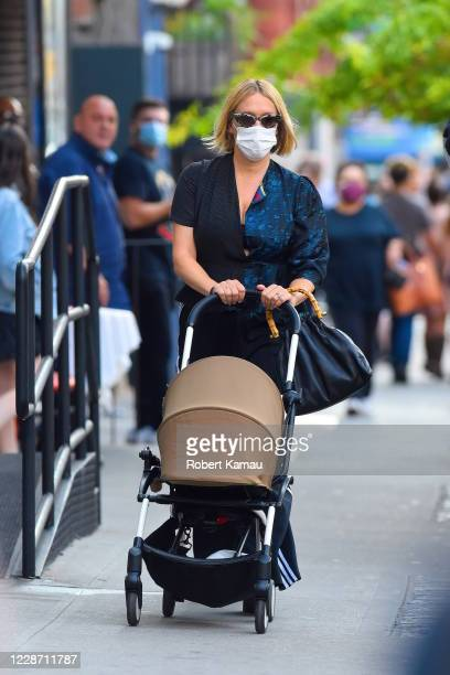 Chloe Sevigny is seen out with her daughter Vanja in SoHo on September 25 2020 in New York City