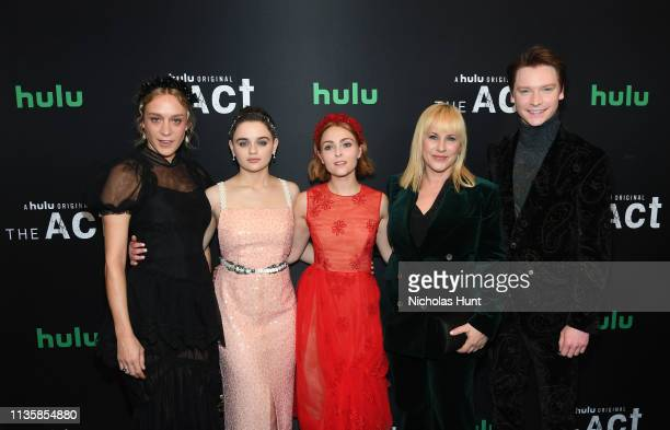Chloe Sevigny Joey King Patricia Arquette AnnaSophia Robb and Calum Worthy attend Hulu's The Act New York Premiere at The Whitby Hotel on March 14...