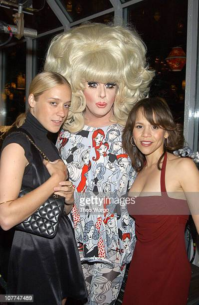 """Chloe Sevigny, Lady Bunny and Rosie Perez during amfAR's 12th Annual """"Boathouse Rock"""" Party - Inside at Tavern on the Green in New York City, New..."""