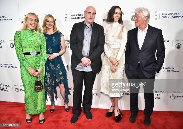 Chloe Sevigny Laura Linney Oren Moverman Rebecca Hall and Richard Gere attend 'The Dinner' Premiere at BMCC Tribeca PAC on April 24 2017 in New York...