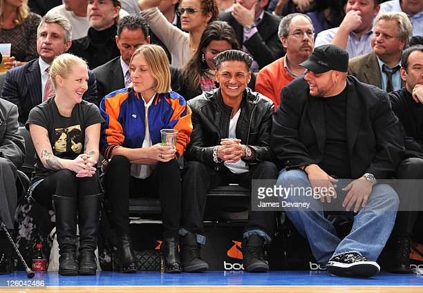 Chloe Sevigny Paul Pauly D Delvecchio and guests attend the San Antonio Spurs vs New York Knicks game at Madison Square Garden on January 4 2011 in...
