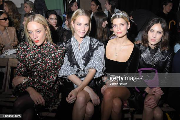 Chloe Sevigny Poppy Delevingne Pixie Geldof and Alexa Chung attend the Miu Miu show as part of the Paris Fashion Week Womenswear Fall/Winter...