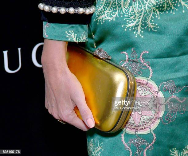 """Chloe Sevigny, purse detail, at the Gucci & The Cinema Society Host A Screening Of Roadside Attractions' """"Beatriz At Dinner"""" at the Metrograph on..."""