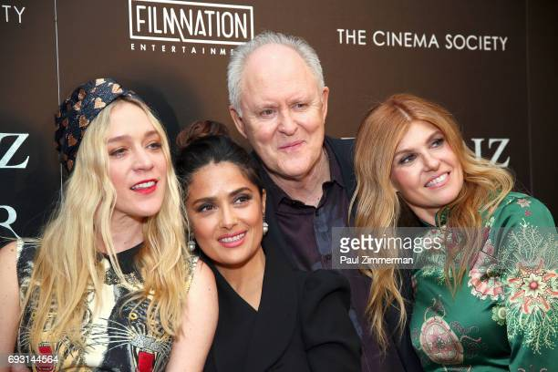 """Chloe Sevigny, Salma Hayek, John Lithgow and Connie Britton attend the Gucci & The Cinema Society Host A Screening Of Roadside Attractions' """"Beatriz..."""