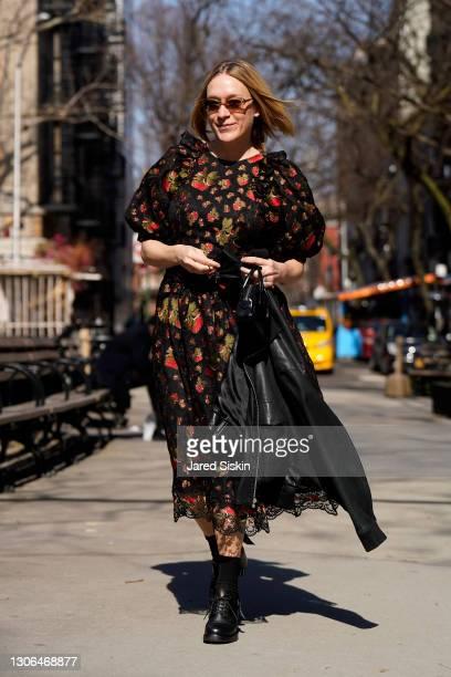 Chloe Sevigny seen on March 10, 2021 in New York City.