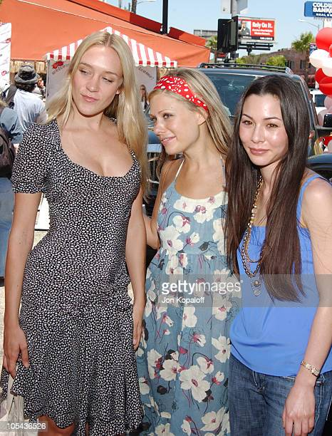 Chloe Sevigny Tara Subkoff and China Chow during Virgin Mobile House of Paygoism Summer BBQ Tour at Sunset Blvd in West Hollywood California United...