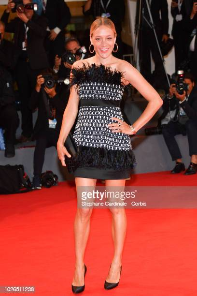 Chloe Sevigny walks the red carpet ahead of the 'At Eternity's Gate' screening during the 75th Venice Film Festival at Sala Grande on September 3...