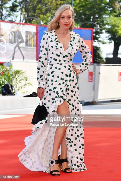 Chloe Sevigny walks the red carpet ahead of the 'Lean On Pete' screening during the 74th Venice Film Festival at Sala Grande on September 1 2017 in...