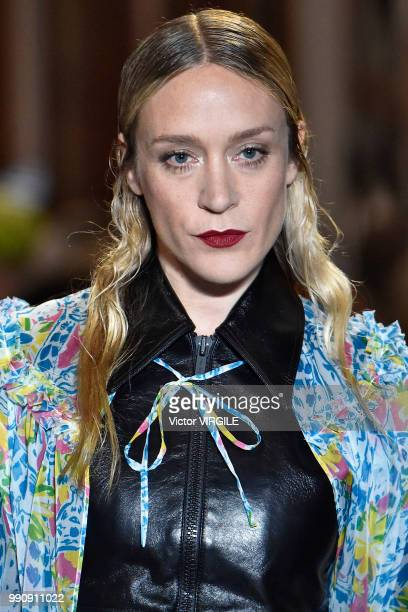 Chloe Sevigny walks the runway during the finale of the Miu Miu 2019 Cruise Collection Show at Hotel Regina on June 30 2018 in Paris France