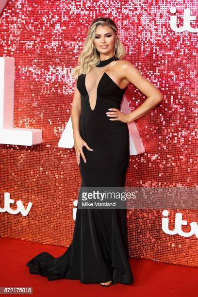 Chloe Simms arrives at the ITV Gala held at the London Palladium on November 9 2017 in London England