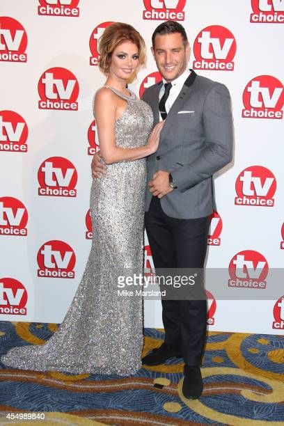 Chloe Sims and Elliott Wright attend the TV Choice Awards 2014 at London Hilton on September 8 2014 in London England