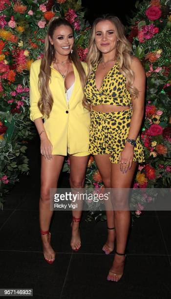 Chloe Sims and Georgia Kousoulou seen attending Quiz x TOWIE launch party at W hotel on May 10 2018 in London England