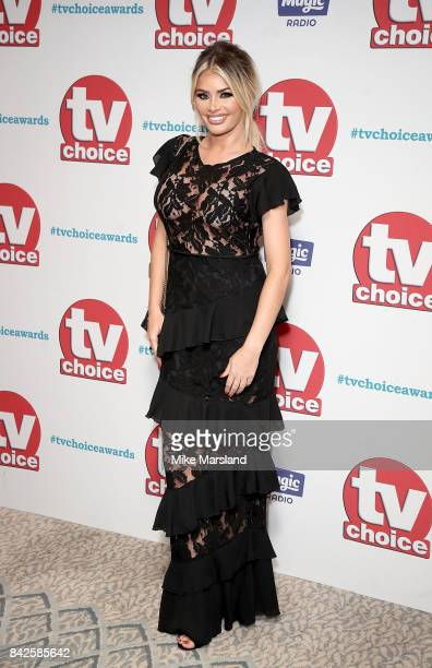 Chloe Sims arrives for the TV Choice Awards at The Dorchester on September 4 2017 in London England