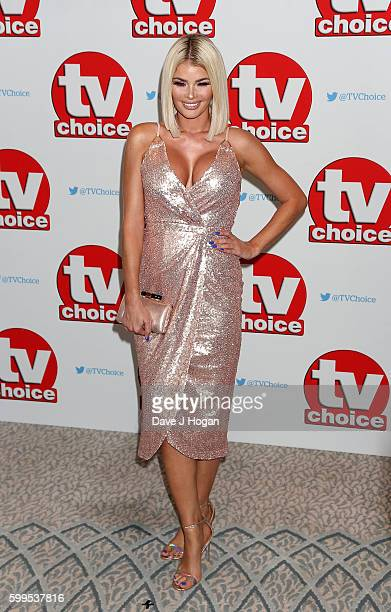 Chloe Sims arrives for the TVChoice Awards at The Dorchester on September 5 2016 in London England