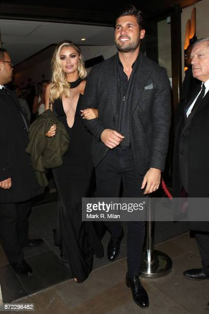 Chloe Sims attending the ITV Gala afterparty at Aqua on November 9 2017 in London England