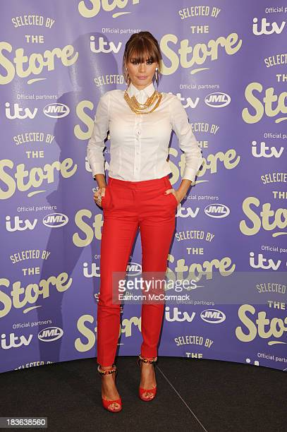 Chloe Sims attends a photocall to launch new shopping channel 'The Store' at BAFTA on October 8 2013 in London England