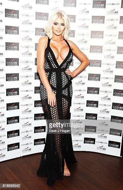 Chloe Sims attends the annual Elbrook Gala Dinner in aid of The British Asian Trust and their newly launched 'Give A Girl A Future' appeal at Chak 89...
