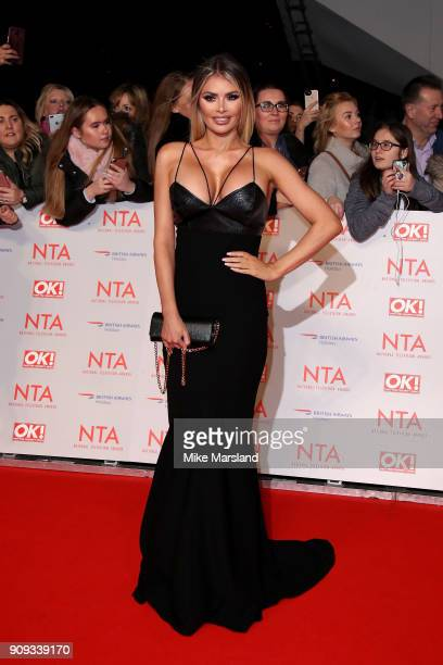 Chloe Sims attends the National Television Awards 2018 at The O2 Arena on January 23 2018 in London England