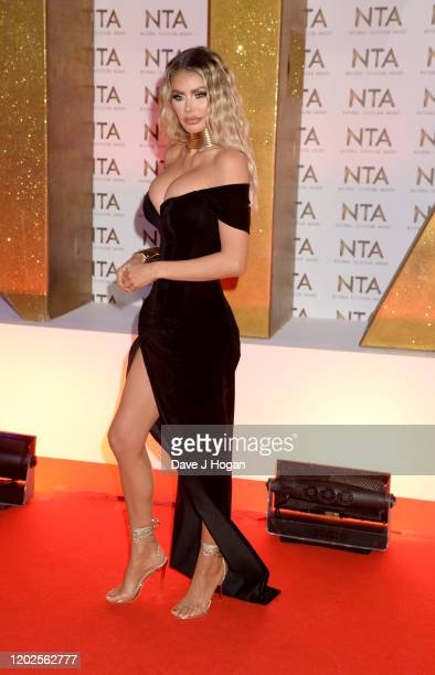 Chloe Sims attends the National Television Awards 2020 at The O2 Arena on January 28 2020 in London England
