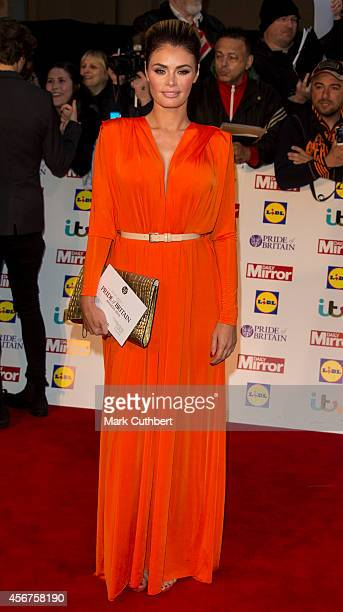 Chloe Sims attends the Pride of Britain awards at The Grosvenor House Hotel on October 6 2014 in London England