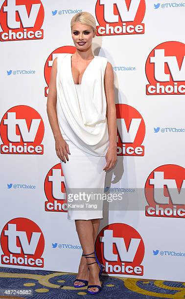 Chloe Sims attends the TV Choice Awards 2015 at Hilton Park Lane on September 7 2015 in London England