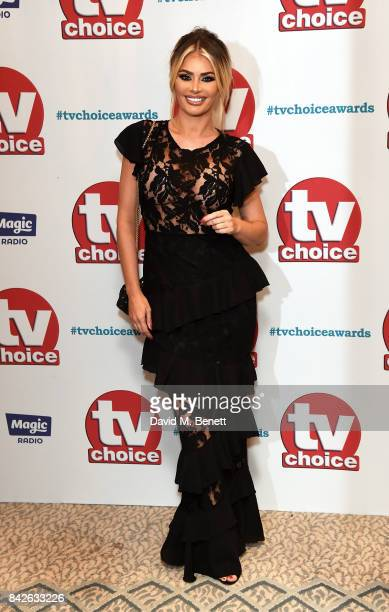 Chloe Sims attends the TV Choice Awards at The Dorchester on September 4 2017 in London England
